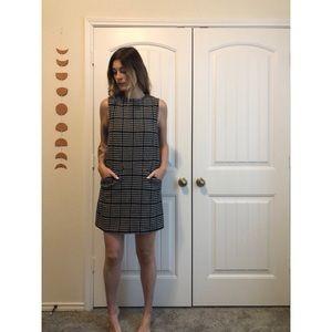 Houndstooth Joe Fresh Wool Shift Dress